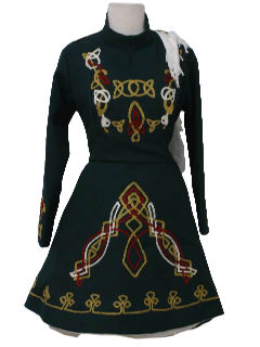 1980's Womens Irish Dance Feis Dress