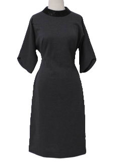 1950's Womens New Look Wool Wiggle Cocktail Dress