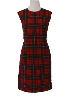 1960's Womens A-line Wool Dress