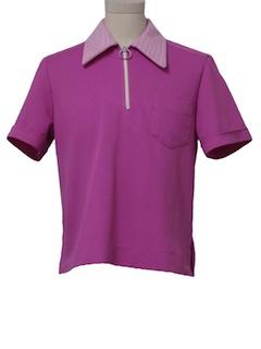 1960's Unisex Mod Bowling Shirt