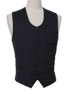 1970's Mens Wool Suit Vest