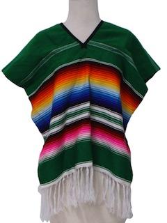 1980's Womens Hippie Poncho