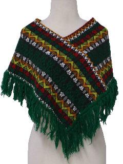 1970's Womens Hippie Poncho