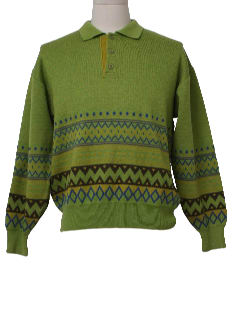 1980's Mens Hippie Style Sweater