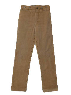 1980's Mens Western Jeans Cut Pants