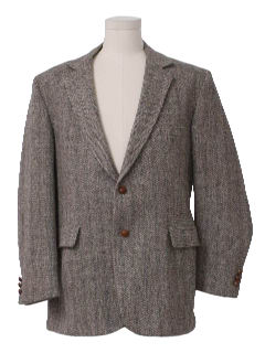 1970's Mens Wool Tweed Blazer Jacket