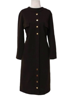 1970's Womens Mod Wool A-line House Dress