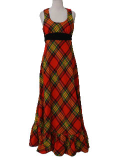 1970's Womens Wool Maxi Dress