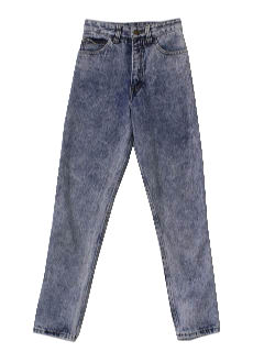 1980's Womens Totally 80s Designer Acid Washed Jeans Pants
