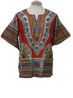 1970's Unisex Dashiki Shirt