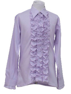1970's Mens/Boys Ruffled Tuxedo Shirt