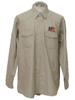 1990's Mens Western Style Work Shirt