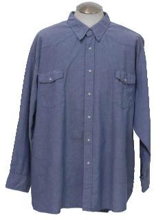 1990's Mens Grunge Western Style Work Shirt