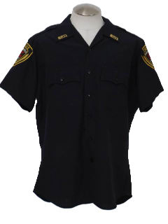 1980's Mens Police Work Shirt