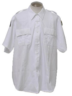 1990's Mens Police Style Work Shirt
