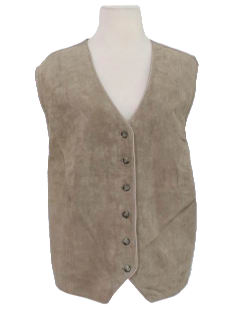 1990's Womens Leather Suit Style Vest