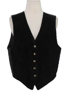 1980's Womens Leather Vest