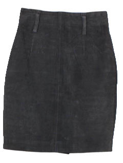 1990's Womens Wicked 90s Leather Skirt
