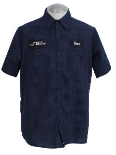 1990's Mens Grunge Work Shirt