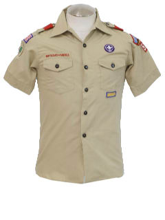 1990's Mens/Boys Boy Scout Work Shirt