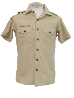 1990's Mens Boy Scout Work Shirt