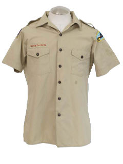 1990's Mens Grunge Boy Scout Work Shirt