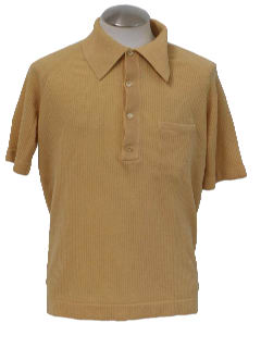 1970's Mens Mod Golf Style Knit Shirt