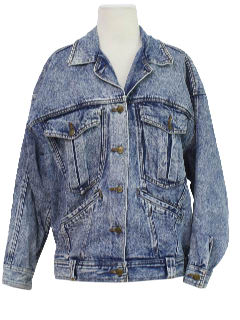 1980's Womens Totally 80s Acid Wash Jacket