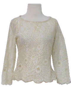 1960's Womens Lace Shirt