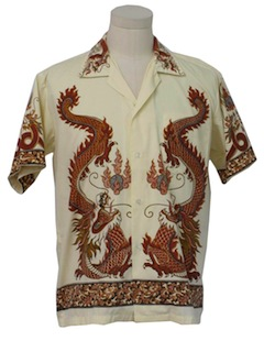 1980's Mens Dragon Shirt