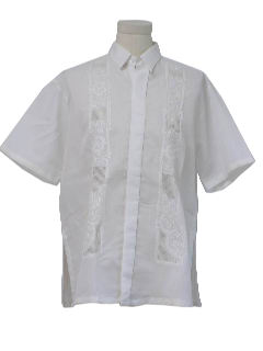1990's Mens Guayabera Hippie Shirt