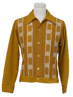 1970's Mens Mod Knit Shirt Jac