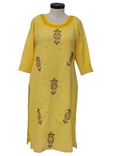 1990's Womens Salwar Kameez Dress Style Tunic Top