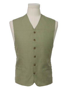 1980's Mens Mod Look Suit Vest