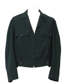 1950's Mens Gabardine Eisenhower Style Jacket