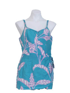 1980's Womens Hawaiian Swimsuit