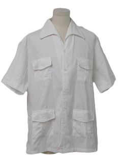 1970's Mens Guayabera Style Shirt