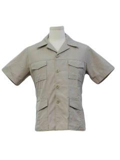 1970's Mens Safari Shirt