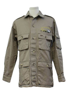 1990's Mens Safari Shirt Jacket
