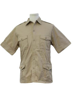 1980's Mens Safari Shirt