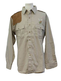 1990's Mens Safari Hunting Shirt