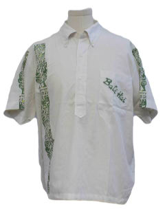 1970's Mens Resort Wear Hawaiian Style Shirt