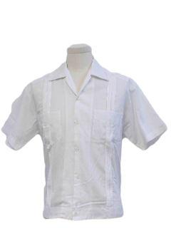 1980's Mens Guayabera Style Shirt