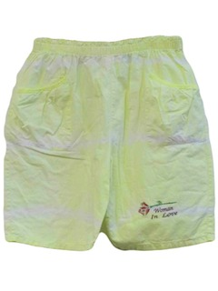 1980's Womens Totally 80s Neon Shorts