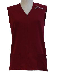1960's Womens Embroidered Liquor Store Uniform Vest