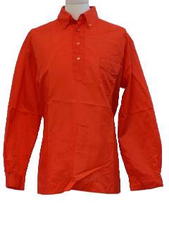 1960's Mens Mod Solid Ski Shirt