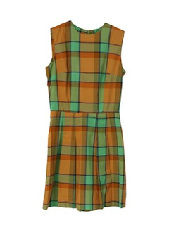 1960's Womens Mod Mini Scooter Dress