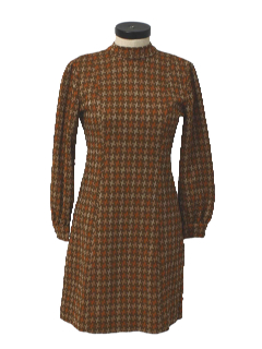 1970's Womens or Girls Mod Knit Dress