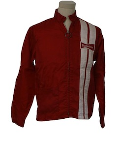 1970's Mens Mod Budweiser Racing Jacket