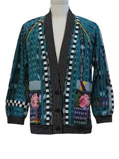 1980's Womens Totally Guatemalan Inspired 80s Hippie Jacket